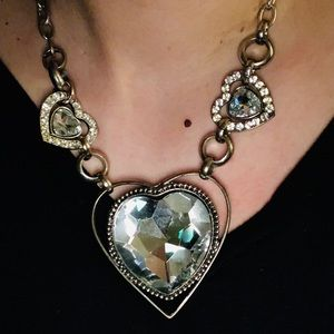 Jewelry - Heart🖤Statement necklace Rhinestone💎